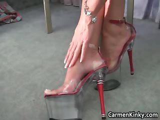 Kinky Carmen Is Solo This Time And She Part1