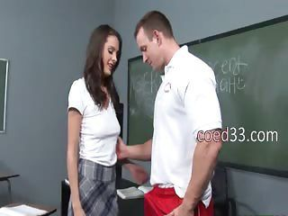 teacher plays with her sweet schoolmate