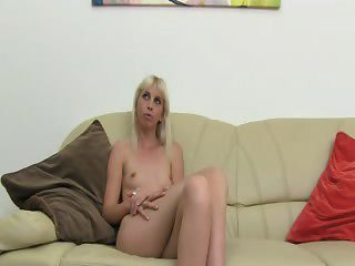 Skinny Blondie Fuck On Fake Casting