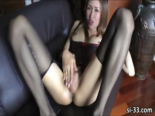 Cute Ladyboy Hottie Apple Shoots Sperm