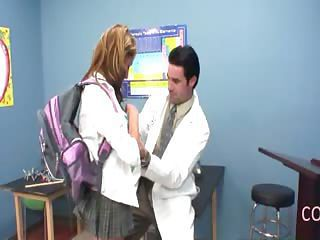 hot schoolgirl makinglove with teacher