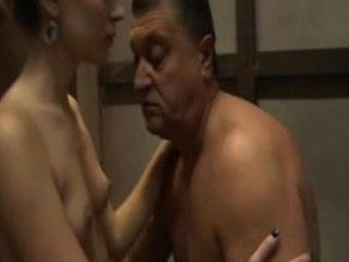 Old Man Fucking,loving Together with Kissi...