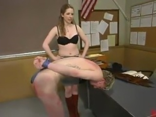 Ian Frost has Punished By Princess Kali inside the Classroom