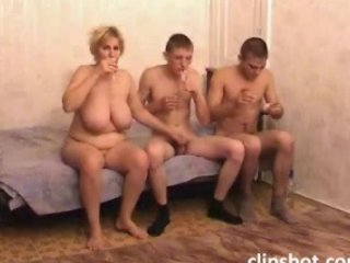 Drunk Mature Mom With Two Guys