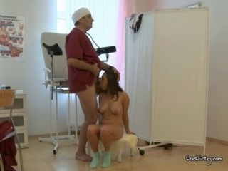 Young busty babe will take the doctors cock without hesitation as she yearn...