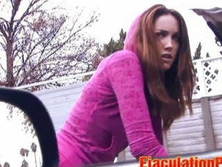 Steph - Super Hot Teen chupa y obtiene una facial Sticky