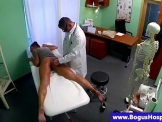 Hot patient finger fucked and banged by her doctor