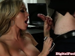 Big titted Capri Cavanni drools on cock