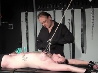Rookie slaves intense torture and hard core heavy sadism of stretched slavery...