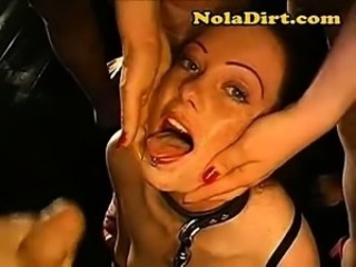 Messy Bukkake Cum Facial Sperm Play