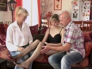 She takes her BF's dad wiener together with nurturer helps