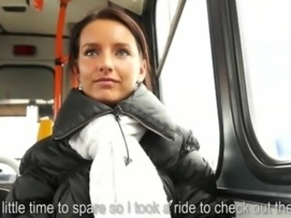 Amateur Bus Cash MILF Pov Public
