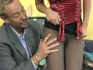 Gefickt almost hautengem Nylon-Fucked almost thigt Nylon