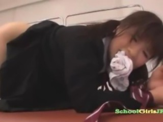 Schoolgirl Tied Relating to Doggy Getting Her Asshole Fingered Fucked Wits The School...
