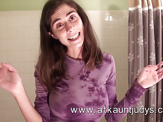 Take a Hot shower with Abbey from ATKAuntJudys!