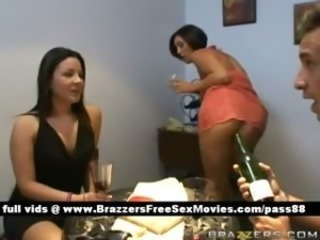 Hot brunette slut drunked at home