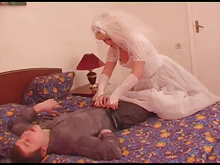The young groom charge from his mature grown bride!