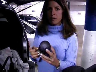 A Blowjob In The Car Park Leads To Cum In Her Eyes !