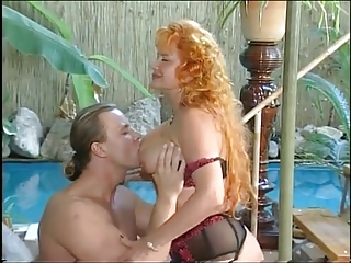 Hot Redhead Mature fuckin by the pool