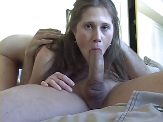 Crestfallen Young European Teen Sucks And Swallows