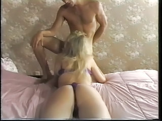 Blonde deepthroats cock before pussy increased by ass fuck