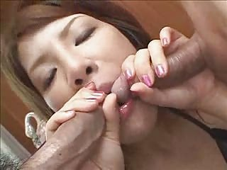 Hot Asian Sucks Two Dicks at Once