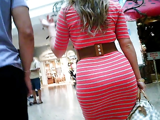 Incredible brunette whooty in tight red dress