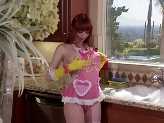 Busty redhead housewife