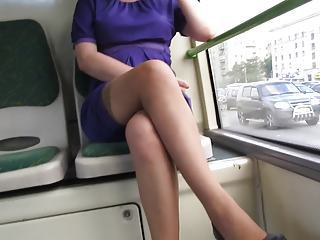 Flashing stockings far instructor