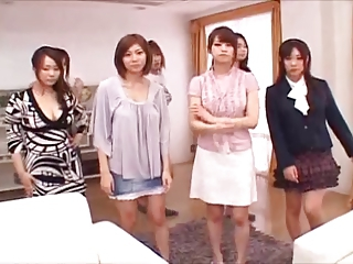 Beautiful japanese pornstars make him cum