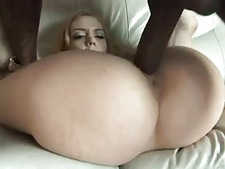 A shaved german pussy for a fat black cock