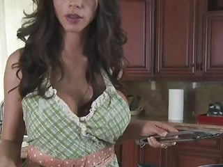 Crestfallen MILF Cooking Naked