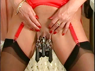 Heavy genital and nipple piercings Body piercing BDSM fetish