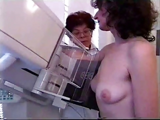 unrestricted mammography on epigrammatic empty saggy tits