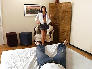 Sexy Nubile In Uniform Fucks Her Lover