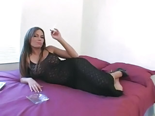 Hot Anna Nova Smoking and Banging