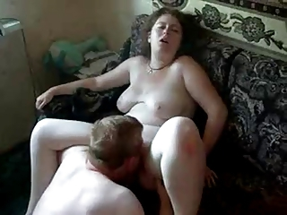 Amateur Chubby Homemade Licking Russian SaggyTits Wife