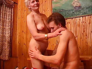 Skinny mom with flabby saggy small tits &amp