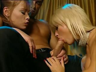 Brigitta Bulgari and her friends have a three-way  on the couch