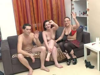 correct beamy ass brunette threesome