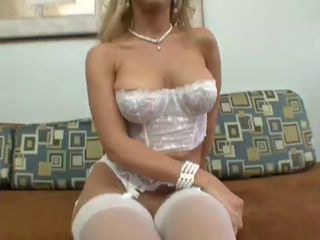 Sexy Blonde Toys With Her Twat Then Toys With A Hard Dick
