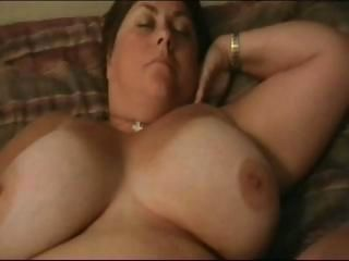 Really busty BBW brunette is getting her fat pussy to the utmost added to cheating on soft-pedal