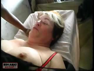 Some hard fucking is going on with this big Chubby mature