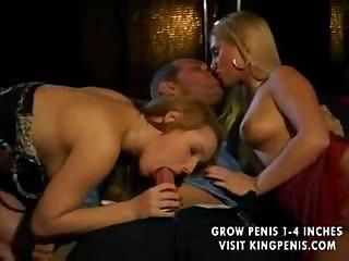 2 Blonde Girls Riding on a Cock