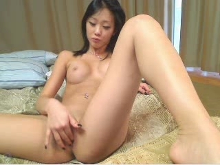 Cute Asian Girl Fingering On Her...