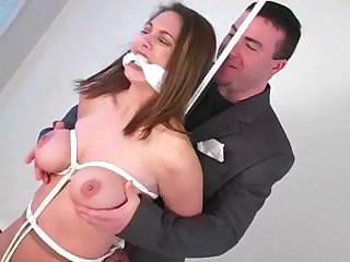 Nina Is Tied Up Naked And Gets Knocked O...