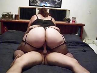 Amateur Ass  Homemade  Riding Stockings