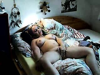 Big Tits Chubby Masturbating  Natural Webcam Wife