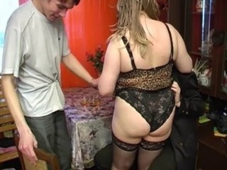 Ass  Drunk Lingerie Mature Mom Old and Young Panty Threesome