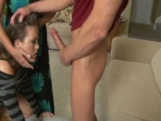 Big cock Blowjob Daughter Family Mom Old and Young Teen Threesome